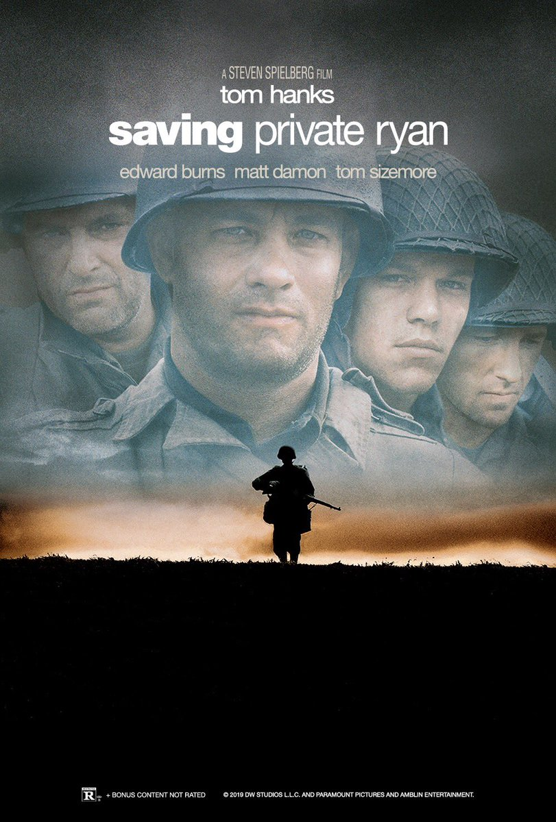 From the ridiculous to the real. Now THIS is quite the movie! Every time I watch it I am humbled and awed by the sacrifices made by those who came before us to keep our freedom. God bless all who have ever served in whatever capacity.