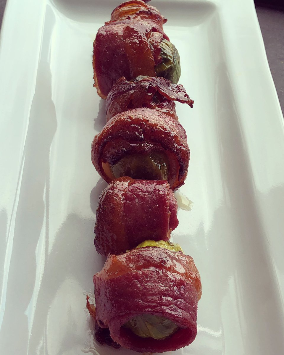 ...bacon wrapped brussel sprouts in a spicy butter sauce... https://t.co/MVtZQgvXDU