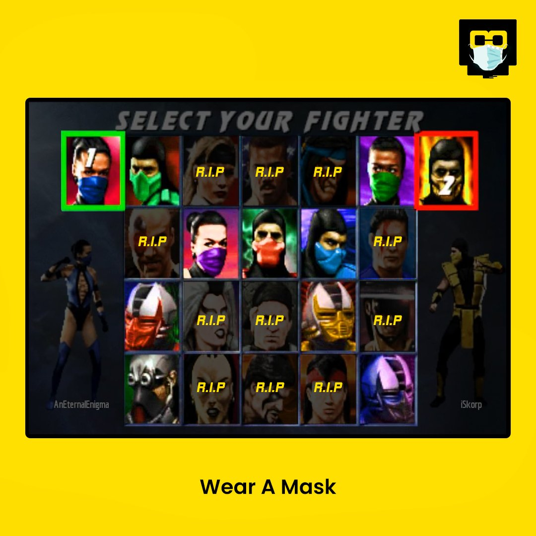 Avoid FATALITY!!   #WearaMask https://t.co/lEM7YEKtSo