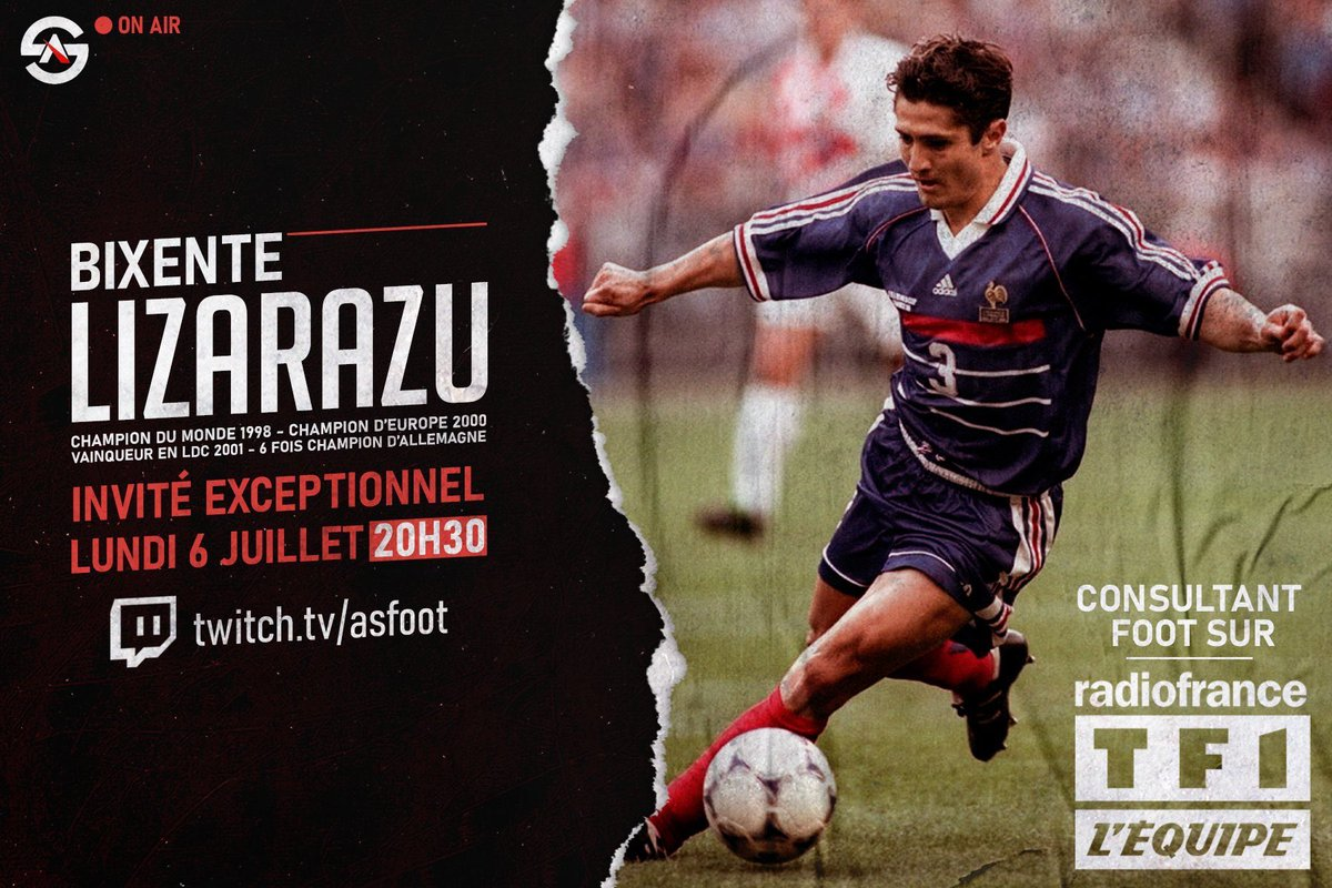 N'oubliez pas, J-2 avant la grande première...👀🔥 @BixeLizarazu twitch.tv/asfoot