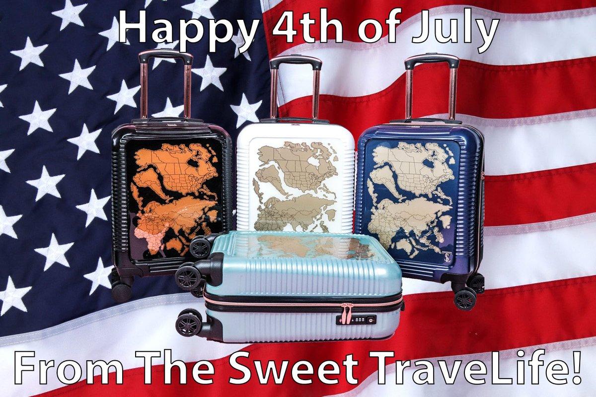Happy 4th of July from The Sweet TraveLife!  * * * #tstltravel #Thesweettravelife #tstlluggage #travelafficionado #fashion #luggage #vegan #bucketlist #letsgoeverywhere #travelstoke #lovetheworld #adventure #seetheworld  #traveladdict #passionpassport #worldcapturespic.twitter.com/gi5OE95W95