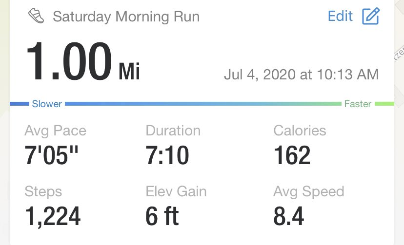 I did a 1 mile timed run this morning!! I made it in 7:10!!! Boy am I tired and hot now!!