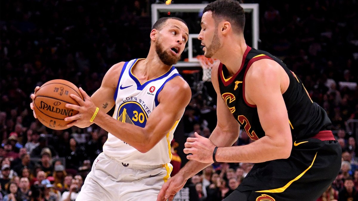 Steph and Larry Nance Jr. did their best to try to sell a Dubs-Cavs rematch in the NBA's second bubble 😂  https://t.co/MOIo6OkXry https://t.co/k1pf25tOEa