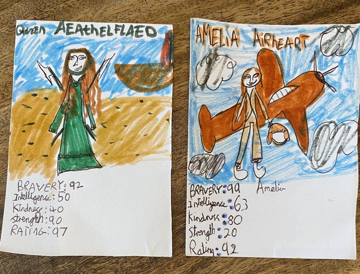 My girls Top Trumps are coming on nicely.