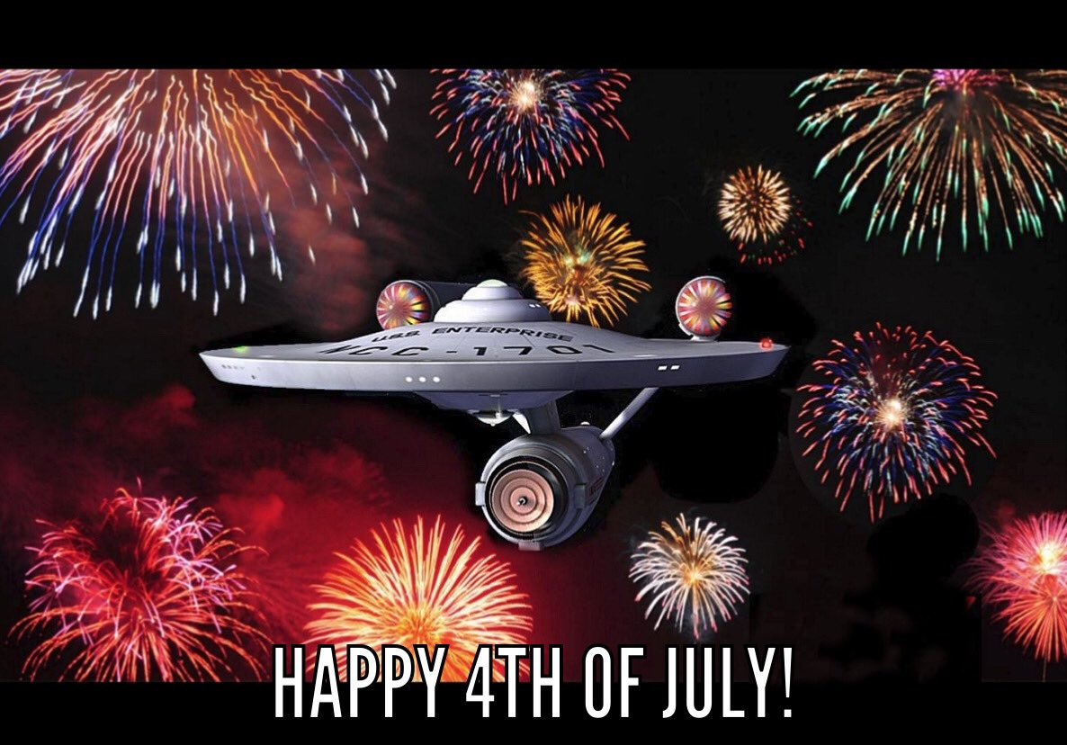 🇺🇸🖖🏾🎆 #roddenberry #4thofJuly #FourthofJuly2020 https://t.co/2XDTXEk5Mb