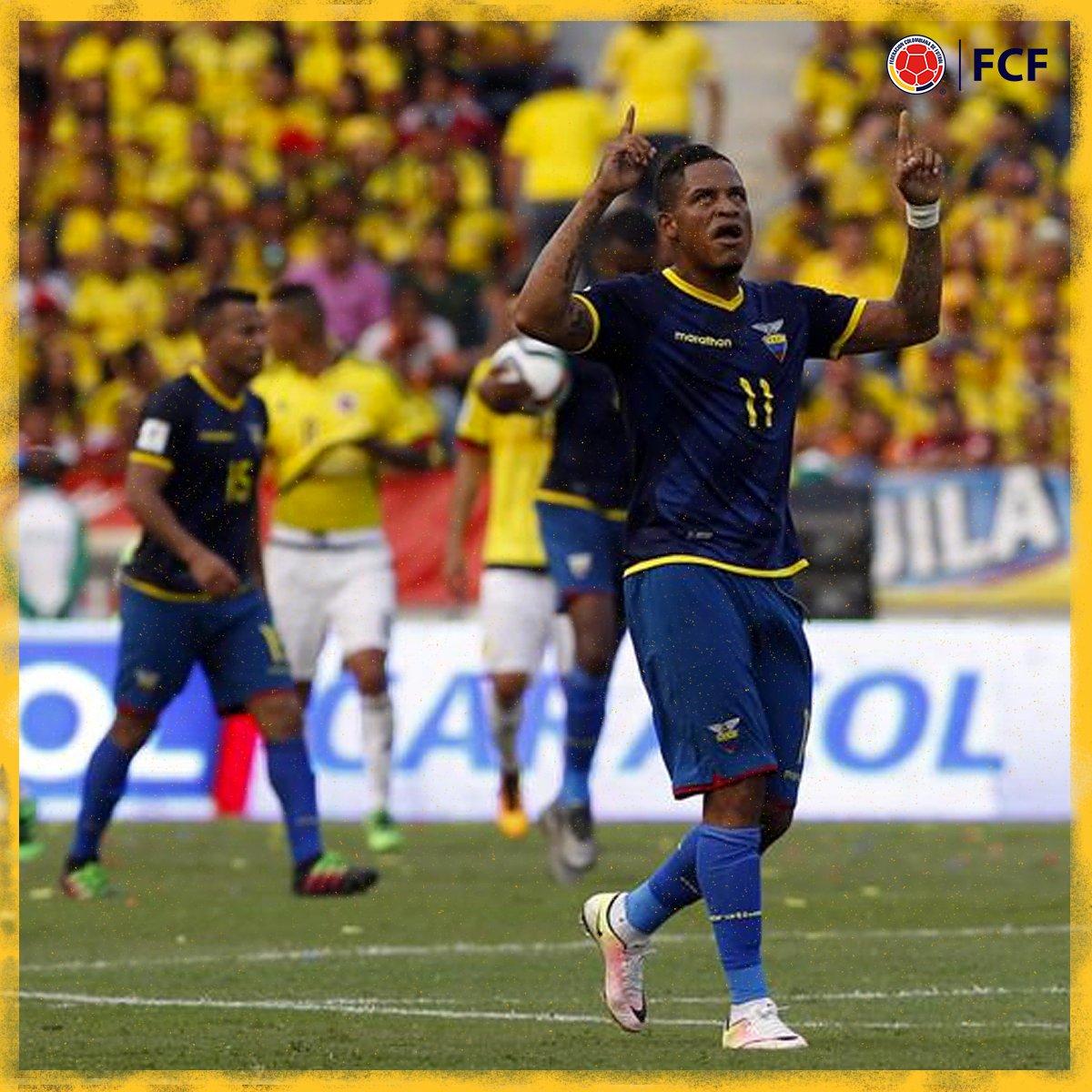 Gol de Ecuador  Michael Arroyo marcó de tiro libre el descuento para el equipo ecuatoriano.   🇨🇴3⃣-1⃣🇪🇨  #EnModoEliminatorias #ViveElGolCaracol https://t.co/26gbj15rSj