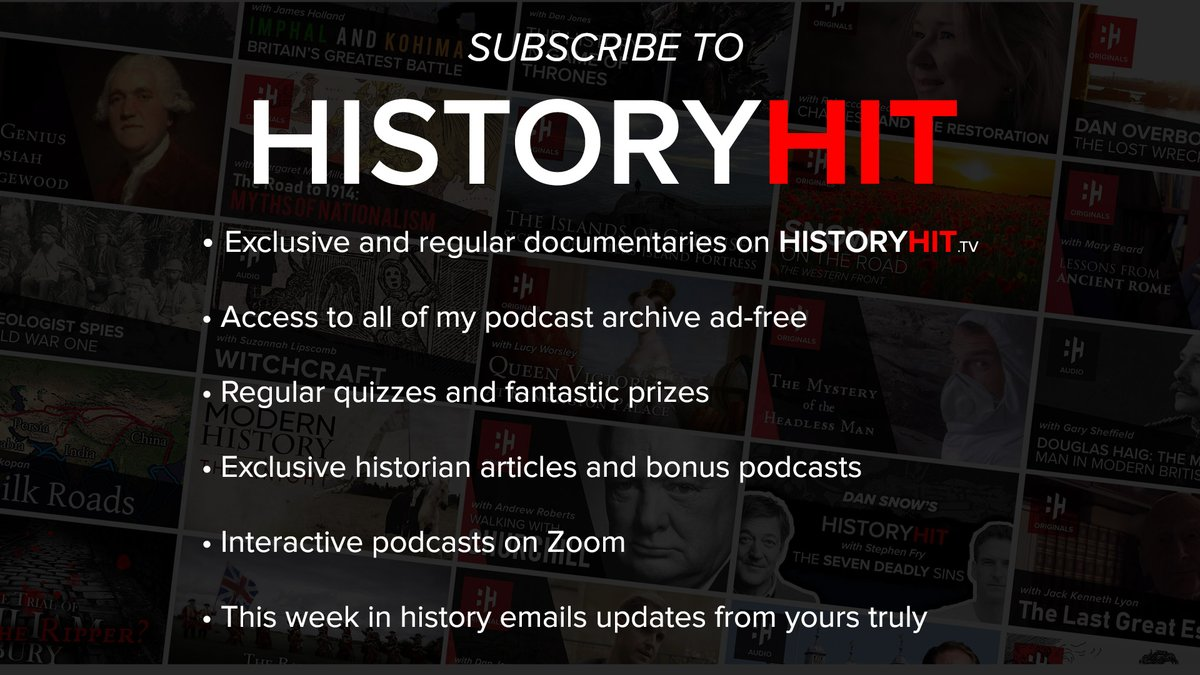 Were ramping up the benefits for our @HistoryHit subscribers. Alongside access to all our history shows you will get weekly eBooks, quizzes, invites to my exclusive Zoom podcast events & more! Signup for your 1st 30 days free (£5.99 a month thereafter) 👉 tv.historyhit.com/signup/package
