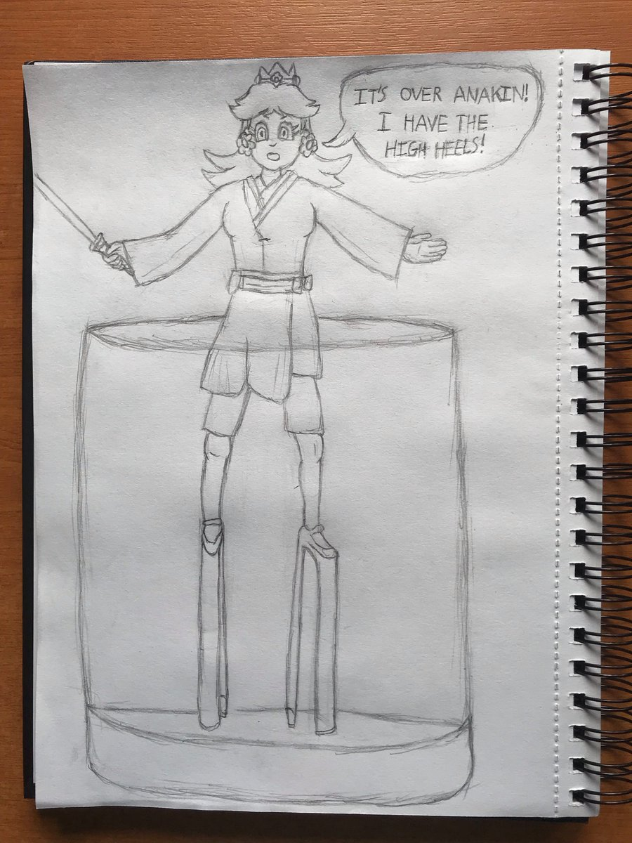 This is a rough sketch which I took inspiration from a post on @Lythero's chat from Twitch.  To anyone who thought drowning Princess Daisy in bits would be easy, prepared to be greatly disappointed.  Witness her true power. Our queen will live for she is now immune. Daisy rules😁 https://t.co/mAAW8r0XEP