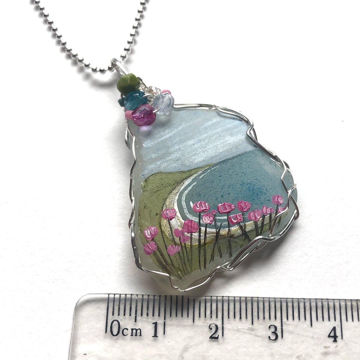 """Check out Pink thrift summer beach hand painted English sea glass necklace - 18"""" chain #Handmade https://ebay.us/f0x1tc via @eBaypic.twitter.com/jagGt4e8fJ"""