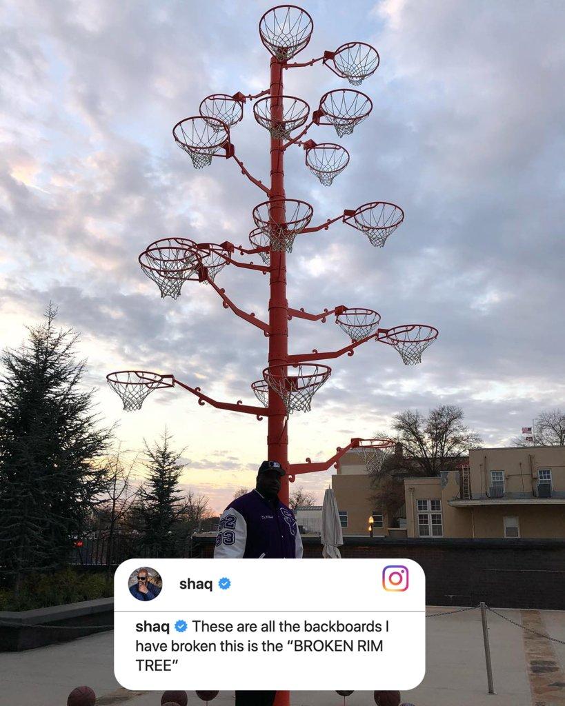 .@SHAQ really has a broken rim tree 😂 https://t.co/inqxlBziug