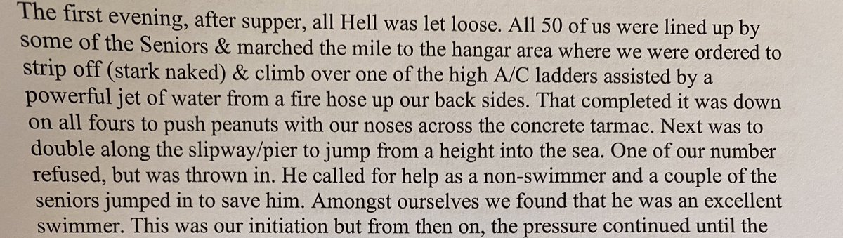 Just been sent this memoir of a WW2 Australian airman. Basic training sounds pretty miserable.