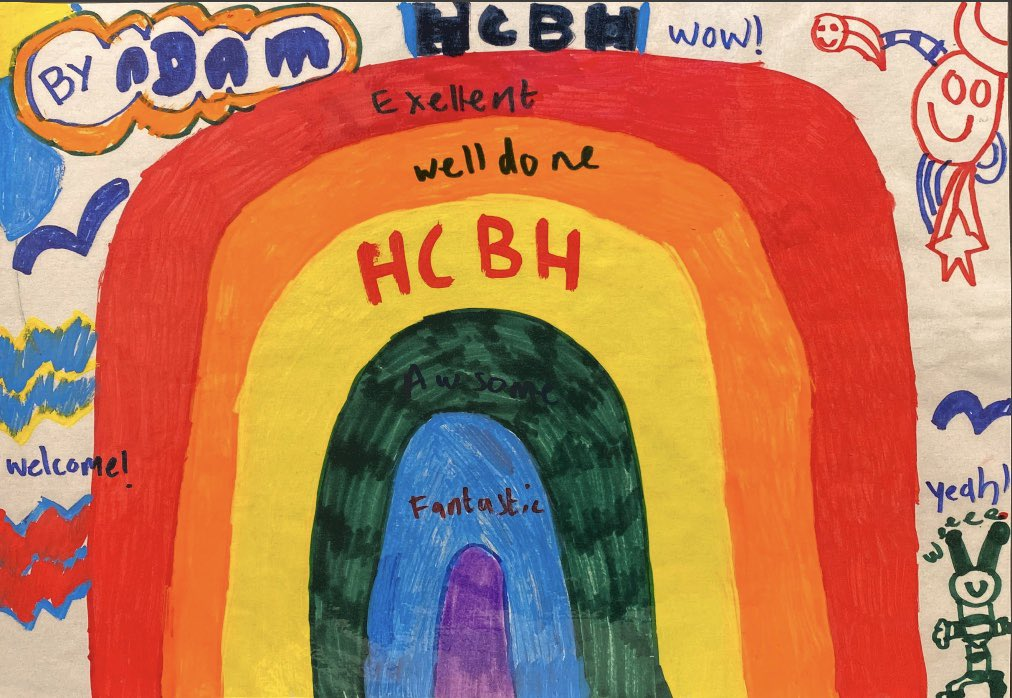 My 7 and 5 year old boys are sending rainbows of hope and encouragement to @HopeHealthAct HCBH hospital in Haiti.   A worrying situation as COVID-19 cases increase.   Well done and thank you to all the hospital staff for the courage and kindness you are role modelling.  🌈🌈🌈 https://t.co/VQQO7DfX2o