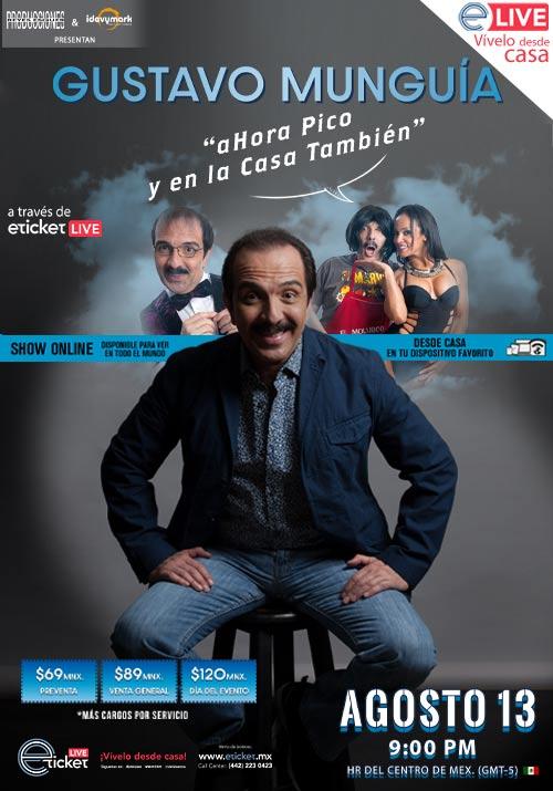 ¡Muy pronto por #eticketLive @Gustavo_Munguia! Prepárate para un divertidísimo show  que te hará reír de principio a fin!  🎫 Accesos ya a la venta en: https://t.co/1HbRoXqIit https://t.co/SOGj2atODO