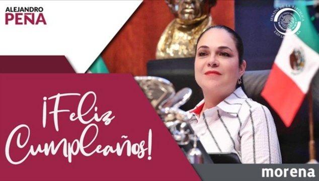 Deseo un feliz cumpleaños a la Senadora @monicaferbal, Presidenta de la Mesa Directiva del @senadomexicano.  Los mejores deseos siempre acompañados de un respetuoso abrazo. 🎂 https://t.co/bxJoeUwxPW