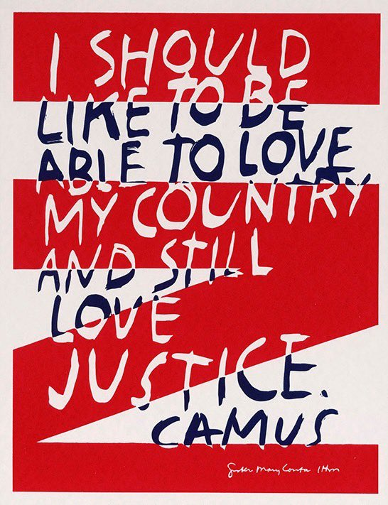 """50 years later, this still rings true. ... Corita Kent, """"love justice,"""" circa 1970. Originally commissioned for the October 1966 cover of """"motive"""" magazine. #FourthofJuly2020 https://t.co/Z2SZCwJMIE"""