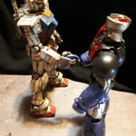 Image for the Tweet beginning: #ガンプラ #ガンダム #マジンガーZ #プラモデル #スーパーロボット大戦  スパロボ的、夢の共演🌟