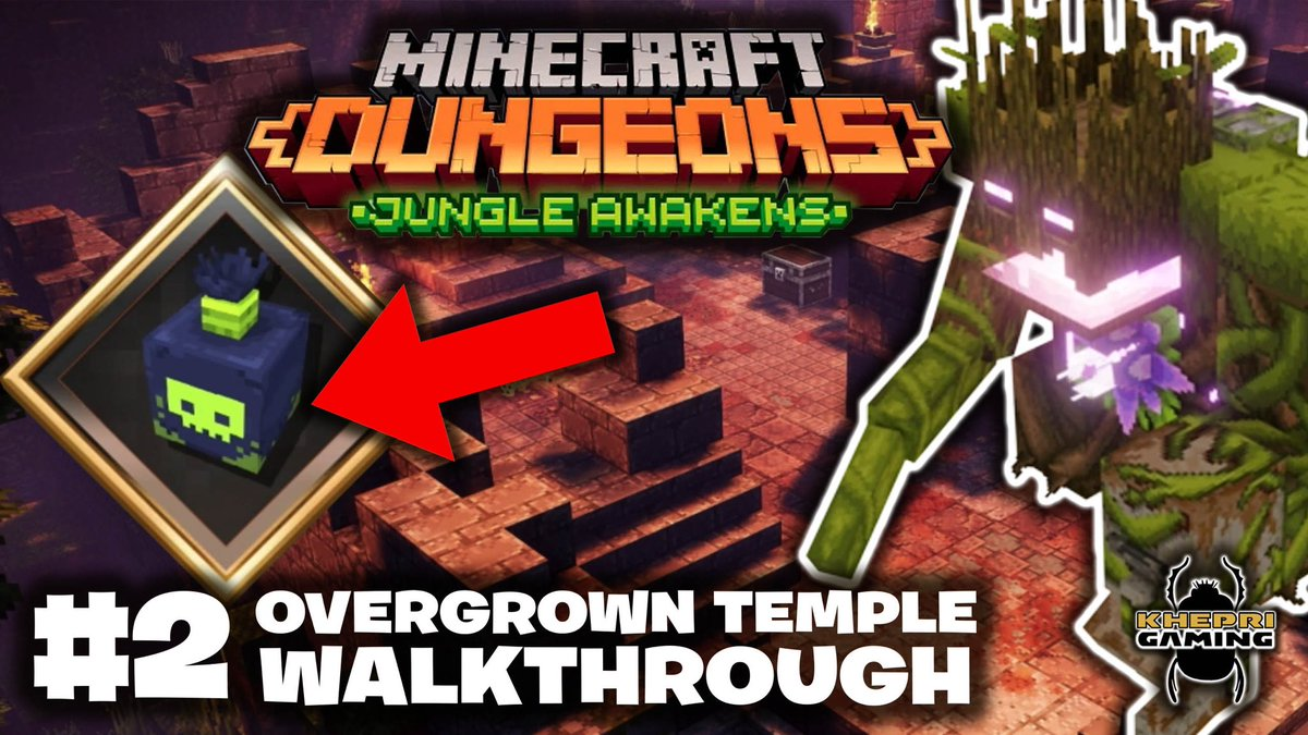 **NEW GAMING VIDEO** Overgrown Temple + Jungle Abomination final boss: #MinecraftDungeons Jungle Awakens Gameplay Walkthrough. Watch now and please subscribe: https://t.co/5YLIR8rm3B https://t.co/blFeAwOuIG