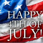 Image for the Tweet beginning: Happy Fourth of July! Please