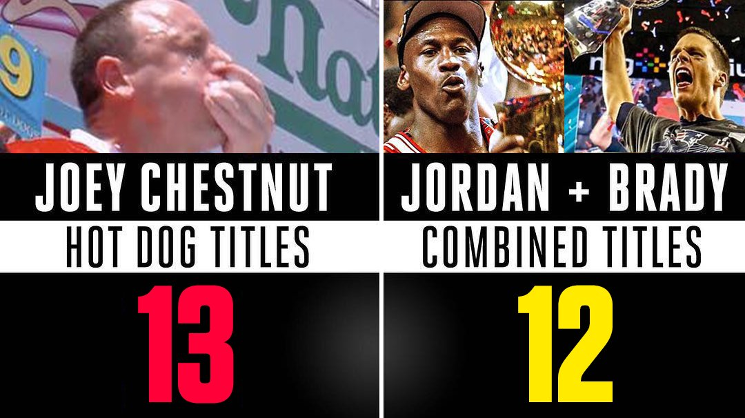 You can now call Joey Chestnut the GOAT of GOATs! https://t.co/YJGJXSzmBZ