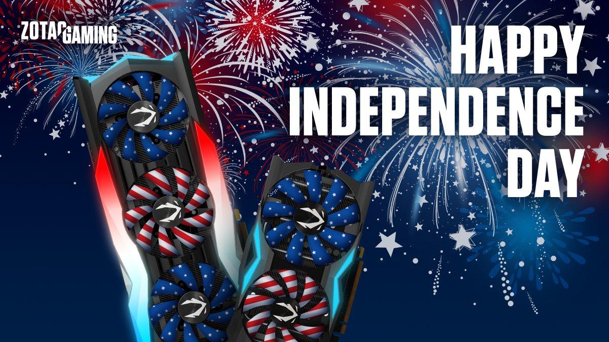 #ZOTACGAMING #ZOTAC #4thofJuly #IndependenceDay #HappyIndependenceDay #PCGaming #GamingPC #PCGamingSetup #GamingRig #Gamingpic.twitter.com/FOhglYPAEk