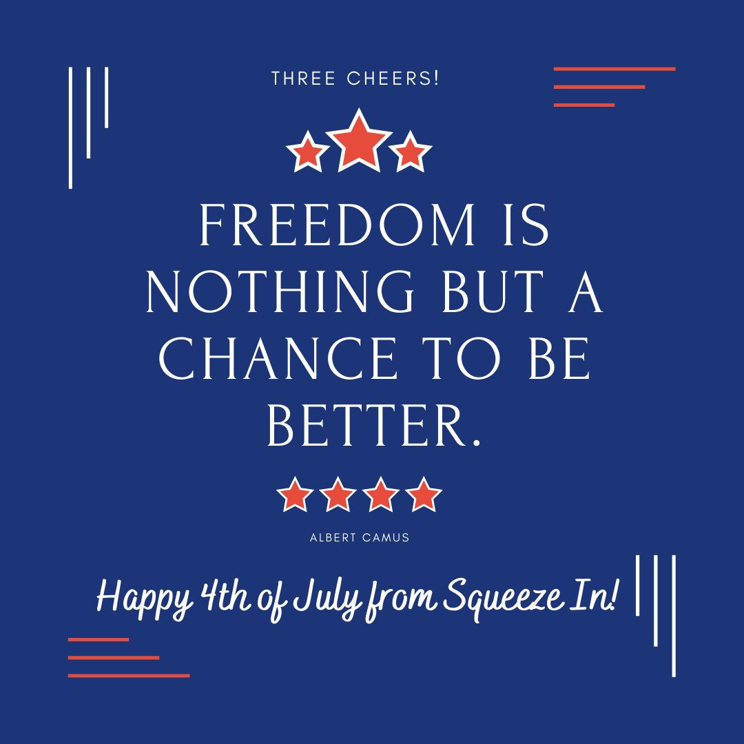 Cheers to a great Fourth of July! Stay safe, EggHeads! #SqueezeIn
