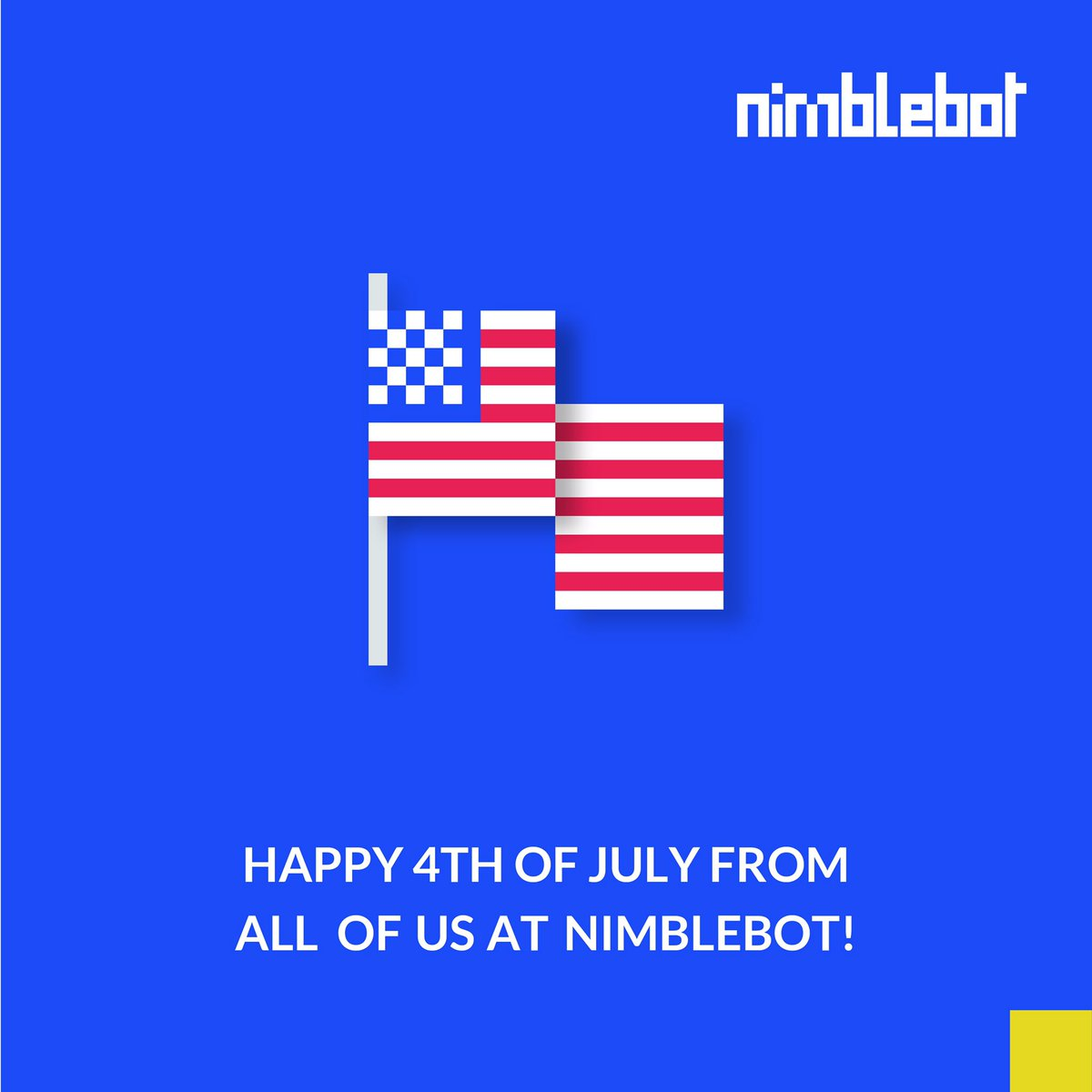 Happy Independence day from all of us at Nimblebot. We hope you have a wonderful 4th!  #independenceday #4thofjuly #digitalagency #design #animation #softwaredevelopment #digitalagencyusa #designinspiration #animation #graphicdesignerpic.twitter.com/Ongjr4rYZK
