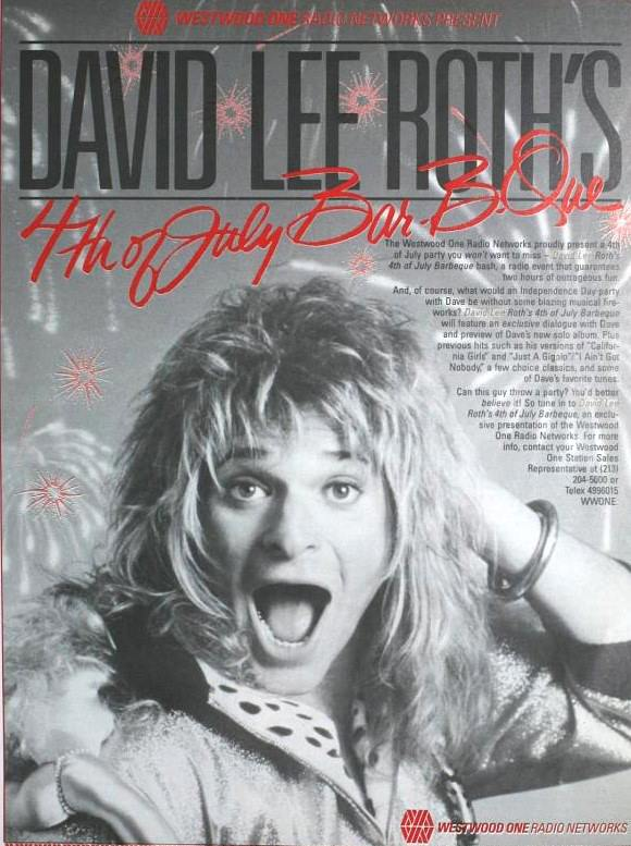 This Day in VH 7/4/1986: @DavidLeeRoth premieres Eat 'Em And Smile on nationally syndicated radio. <br>http://pic.twitter.com/8FbNoSzuJy