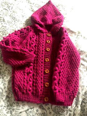 Not a good photograph, but the picture of a Custom Order of the little jacket on the right - going to England on Monday  - hand knits for you #etsy #giftideas #Christmas  #WomeninBusiness