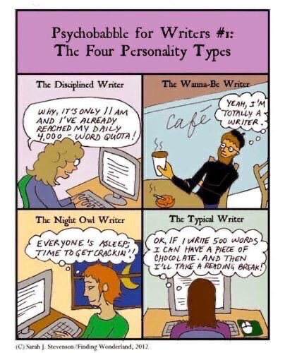 #FellowWriters: Which type of writer are you? #writerslife #amwriting
