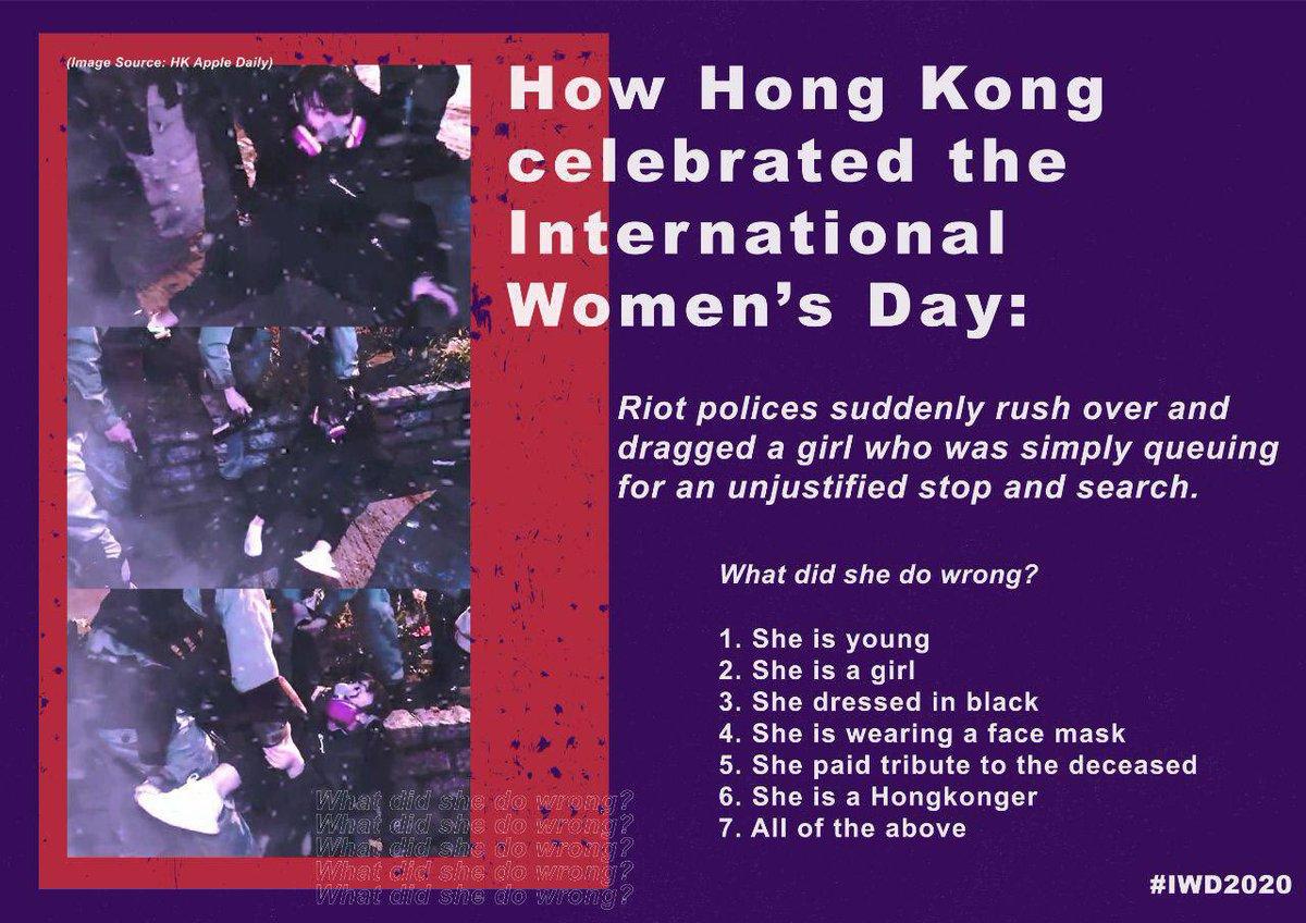 @joshuawongcf @PoPoEatShit1314 On #IWD2020, this is how the #HongKongPolice treated a girl.  #PoliceBrutality https://t.co/ZnPwf8yG45