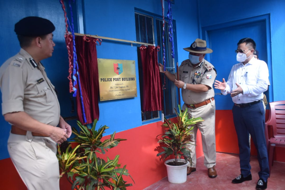 Important Chapter Shri T John Longkumer IPS DGP Nagaland inaugurated the Police Post Building at the Dimapur Police check gate in Rilan-Aokong area in the presence of Shri Y Kikheto Sema IAS, Shri Limasunep Jamir IPS and Shri Rothihu Tetseo IPS Commissioner of Police Dimapur https://t.co/YweJnKs8y9