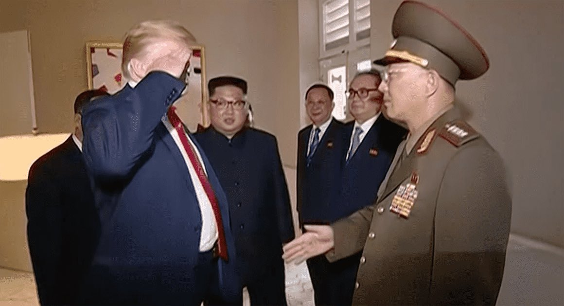 Remember when Donald Trump saluted a member of an enemy, totalitarian regime?  Happy 4th of July! https://t.co/CyQJRo6Y94