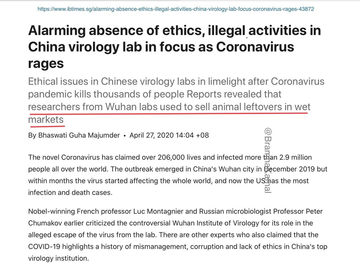 Go to Yulin dog meat festival.  That is barbarism.   BTW, which civilised nation will have researchers selling leftover  animal carcasses from a #VirologyInstitute to #WetMarkets? That is how #COVID19 entered food chain.   #Wuhan  #ChinaFlooding is the curse of those dead dogs. https://t.co/16HmgzXyfD https://t.co/m7dTq6q1IN