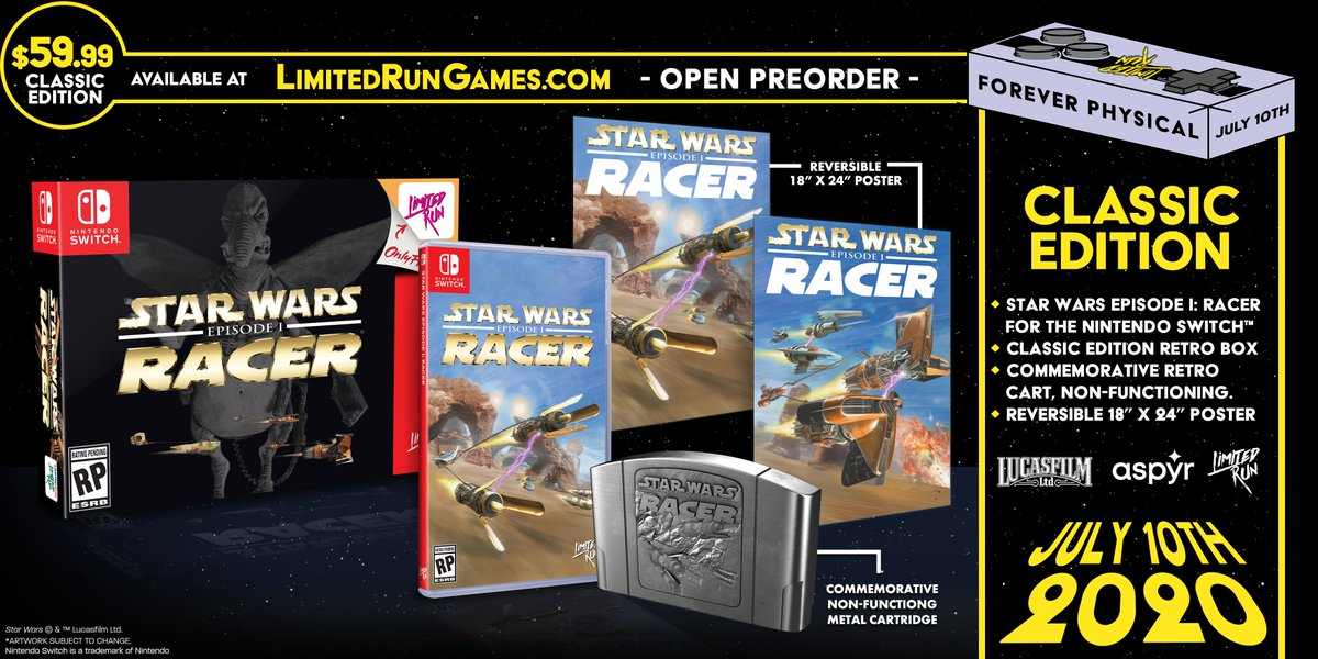 Star Wars: Episode 1 Racer Limited Runs drop in six days. Set your alarms, bookmark our site, and make sure your browser autofill is up-to-date!<br>http://pic.twitter.com/8IBbzr51Hy