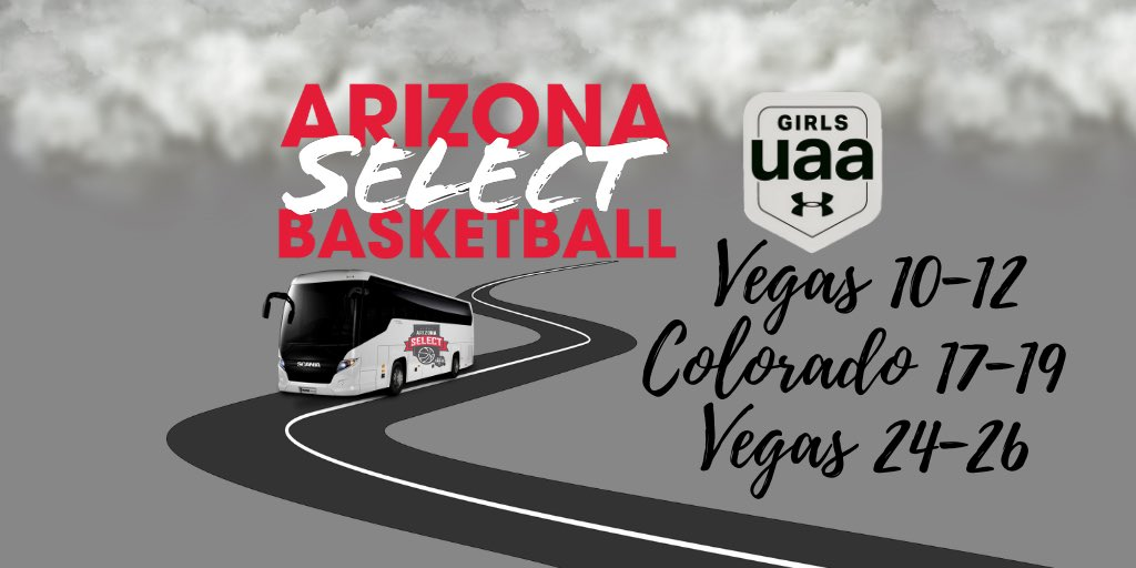 . @AZSelectGirlsBB is on the road this month! Excited to play some basketball. @AZSelectRecruit @GirlsUAA @UAbasketball. https://t.co/BjO27PtSb5