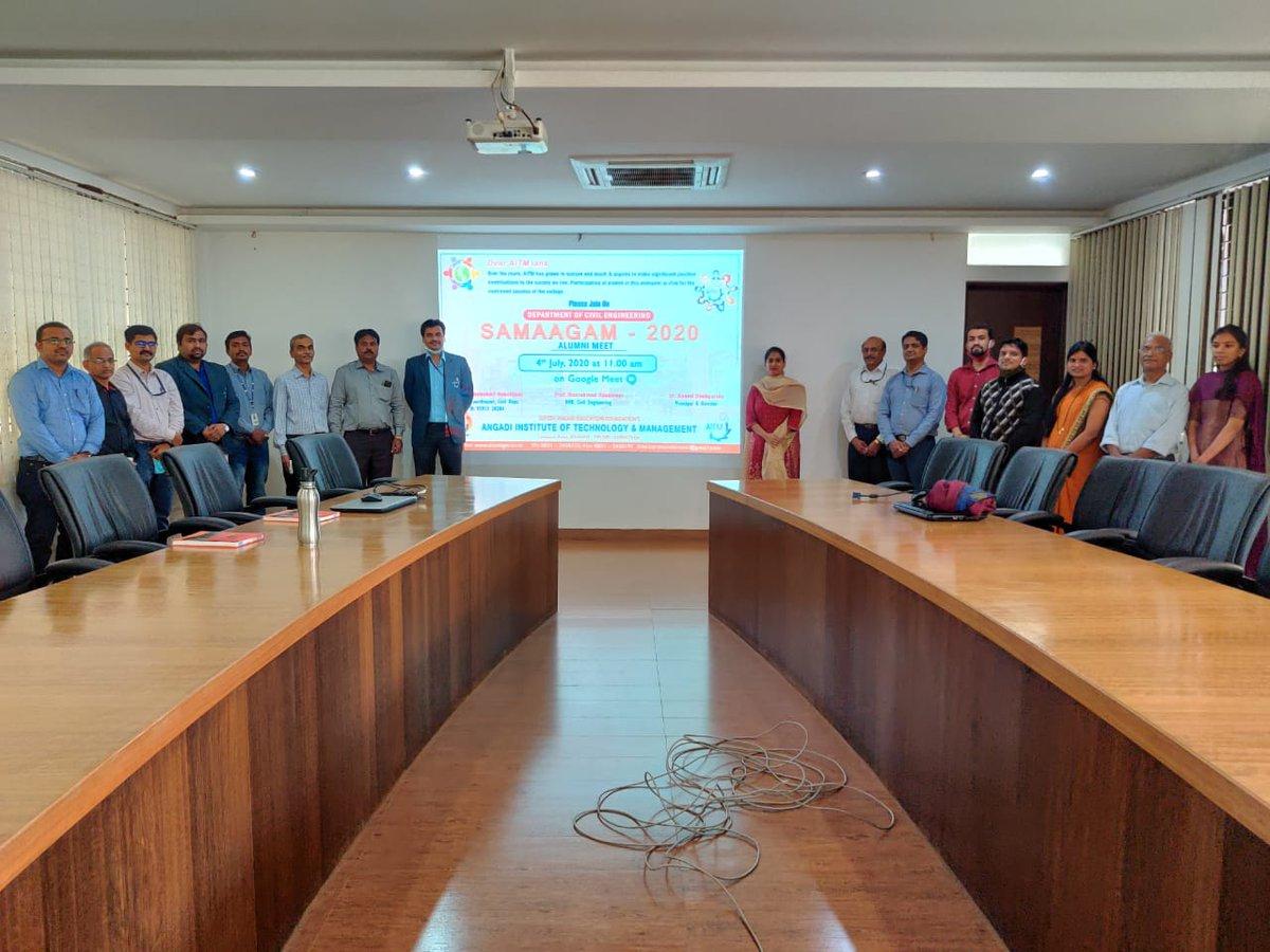 "#Successful_completion_of_Virtual_Alumni_Meet_SAMAAGAM_2020  Department of Civil Engineering, Angadi Institute of Technology and Management (AITM), Savagaon Road, Belagavi, Karnataka successfully organized virtual alumni meet ""SAMAAGAM-2020"" on 4TH July 2020 pic.twitter.com/fS9XJ5CiDw"