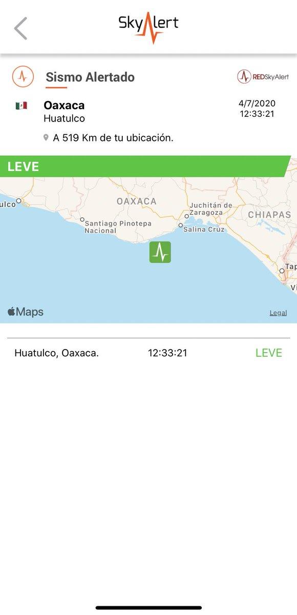 Se detectó sismo de intensidad «leve» en la zona de Huatulco, Oaxaca.   Imperceptible en zona centro. https://t.co/MFqUfZOKUl