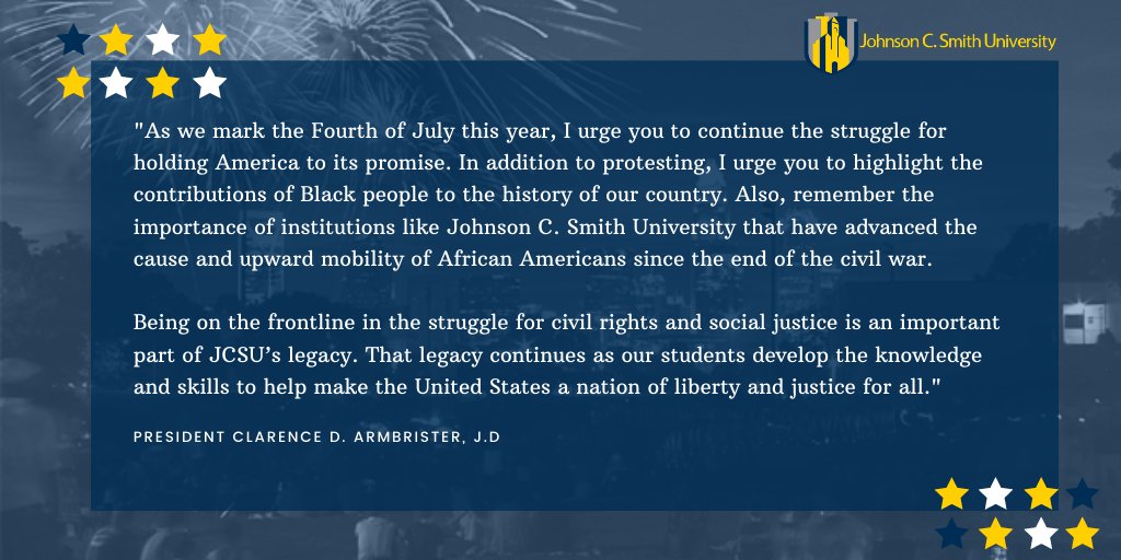 Enjoy your holiday weekend Smithites and continue to #HoldHighTheGoldandBlue!   Visit https://t.co/7CnKwoSM4U to read more from President Clarence D. Armbrister! https://t.co/NNbNqCDr4k