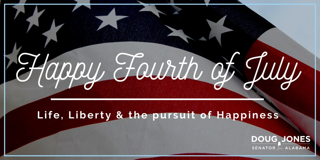 244 years ago, our founding fathers issued a declaration of freedom. Today, we celebrate their patriotism, but also recommit to achieving the lofty ideals our nation was founded upon—so every American can enjoy life, liberty & the pursuit of happiness. #Happy4thofJuly