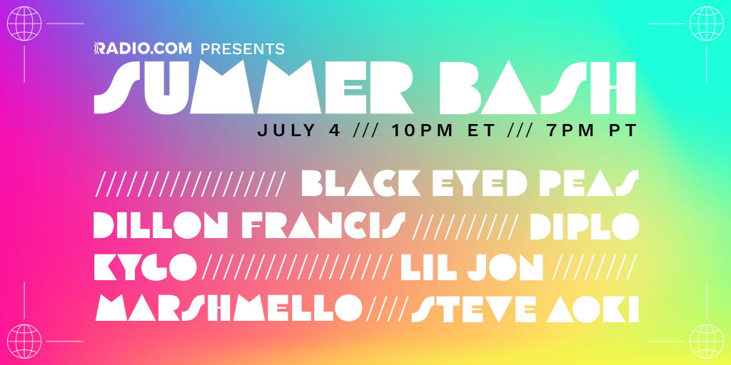 Happy 4th Of July! Getting ready to party? We got the music covered for you! Tune in TONIGHT at 7PM to kick off your holiday weekend; full of music sets from some of your favorite artists and DJs! @Radiodotcom #SummerBash
