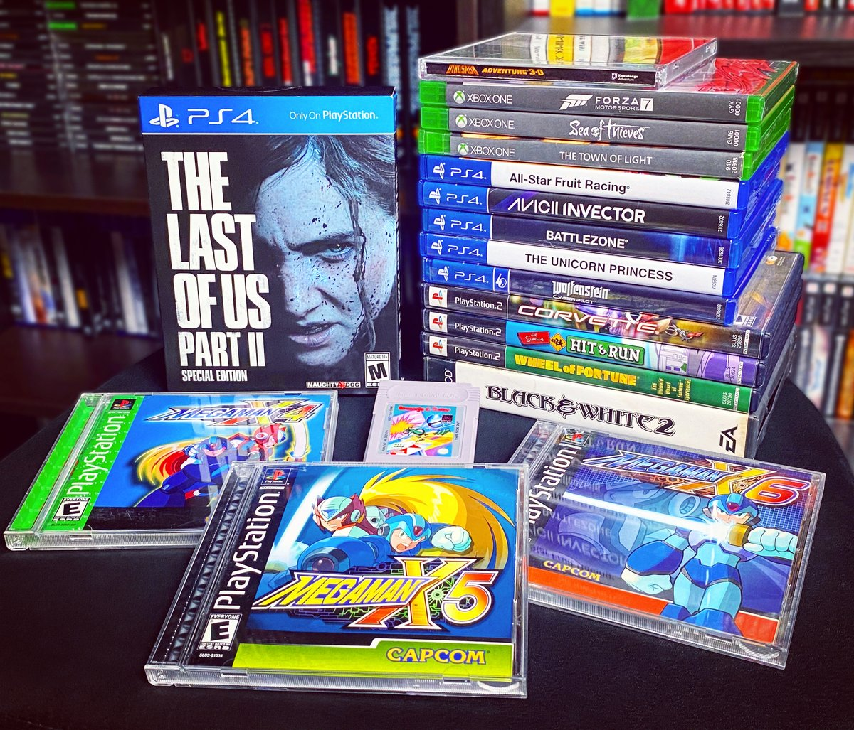 Here are my game pickups/finds for the month of June. Happy 4th everyone!  #retro #retrocollective #retrogaming #retrocollector #retrogames #videogames #gaming #ps1 #games #gamer #nostalgia #gamecollector #playstation #MegaMan #megamanx #gameboy #thelastofus2 #tlou2 #aviciipic.twitter.com/zZjpaer51G
