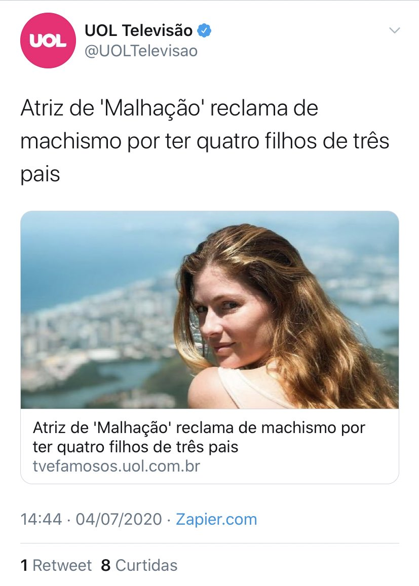 Verdade, culpa do machismo https://t.co/bNfvCEYUMk