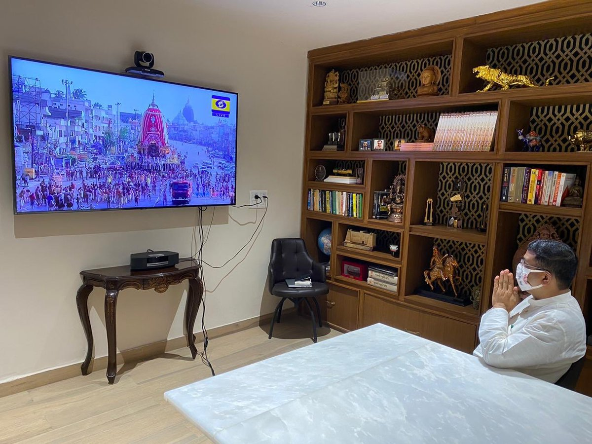 Live streaming of the #RathYatra celebrations through @DDNational and other digital and social media platforms ensured devotees around the world sought blessings and participated in the celebrations from the safety and comfort of their home. https://t.co/hJG8PFIdnK