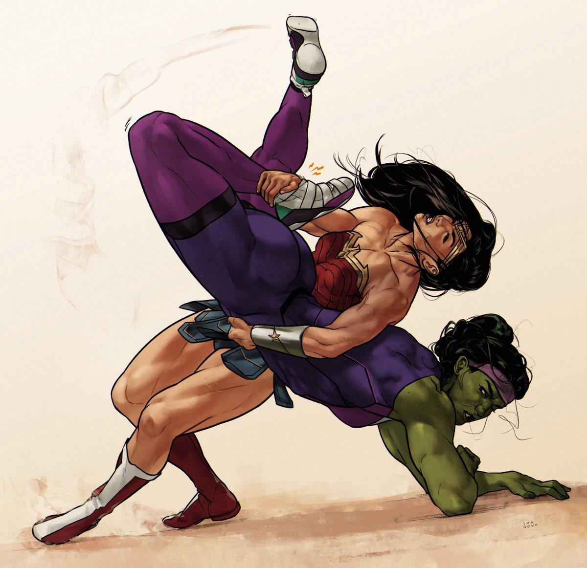 💪 #WonderWoman #SheHulk #Hawkgirl #MonetStCroix #BlackWidow