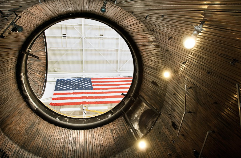 As we look up from the bottom of our In-Space Propulsion vacuum chamber, were grateful for the freedom to explore. #FourthofJuly