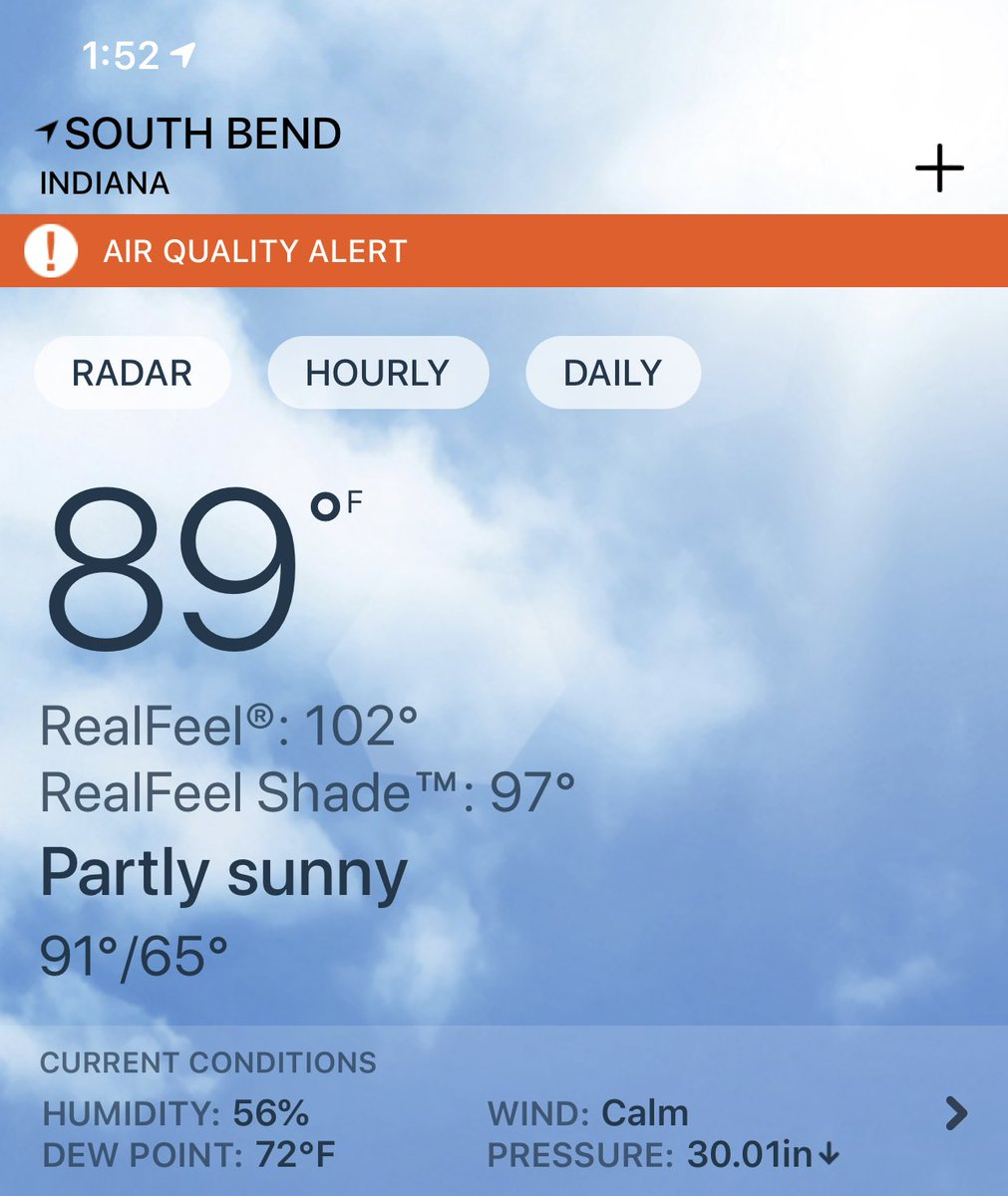 Whew. #southbend #summer