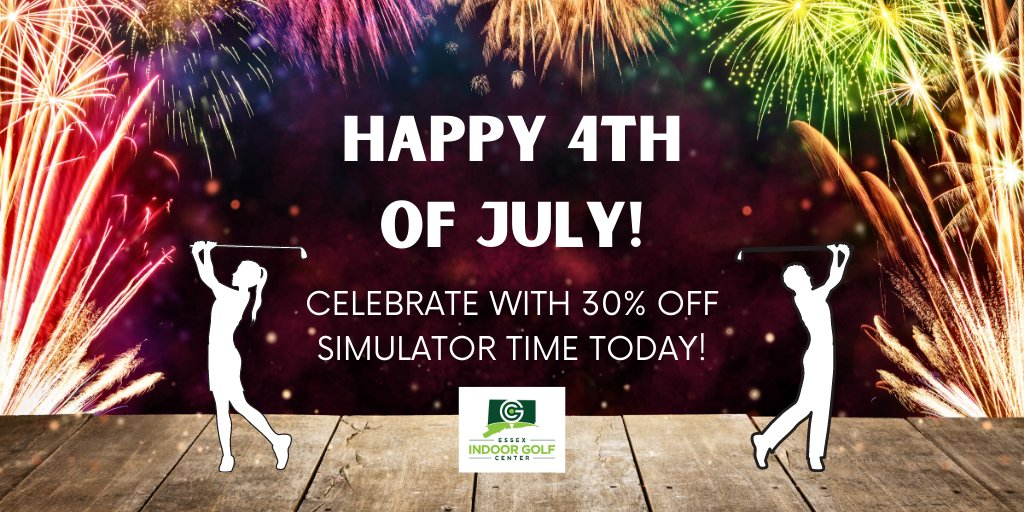 Happy 4th of July!! Come on in and celebrate with us!   30% OFF SIMULATOR TIME FOR BOTH GOLF AND MINI-GOLF!  Have a cold beer while you play, too!   #golf #indoorgolf #virtualgolf #moderngolfer #golfing #minigolfpic.twitter.com/NgQ33UWhYl