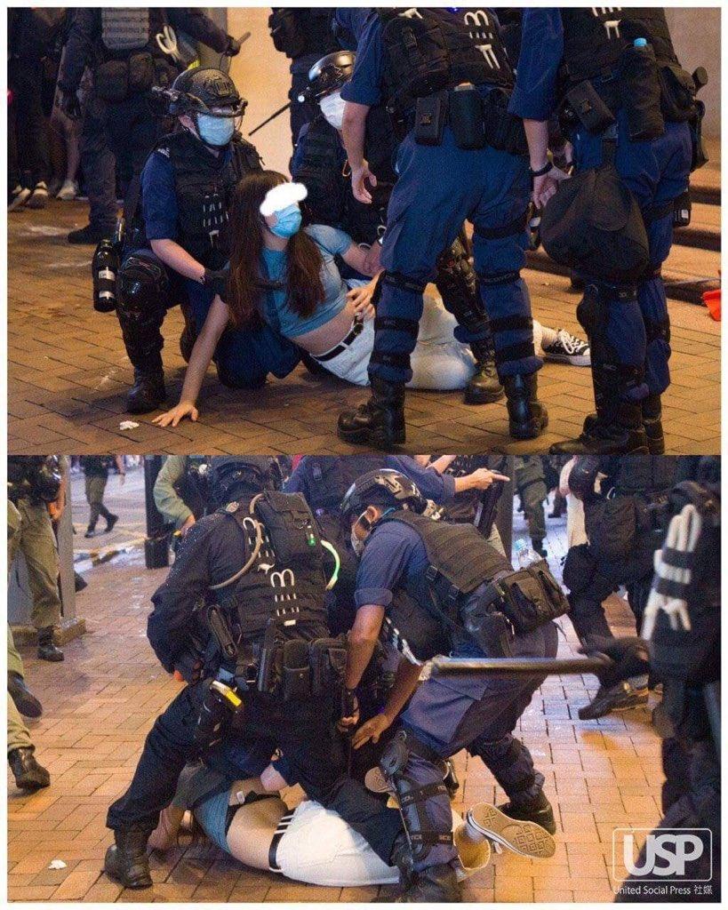 @joshuawongcf @PoPoEatShit1314 #HongKongPolice always target cute and hit girls. #SICK #FACT https://t.co/tGk5WpwNye