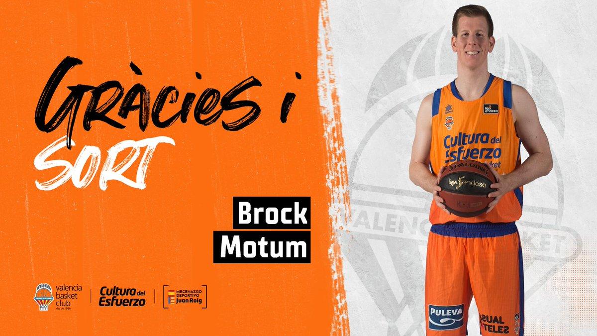 Good luck, @brockm12  Cas 👉 Brock Motum finaliza su contrato con Valencia Basket https://t.co/OdVI3FoBSF  Val 👉 Brock Motum finalitza el seu contracte amb Valencia Basket https://t.co/TpleEKXJ5F  Eng 👉 Brock Motum ends his contract with Valencia Basket https://t.co/UZD9XkS1ru https://t.co/fp63WGTavV