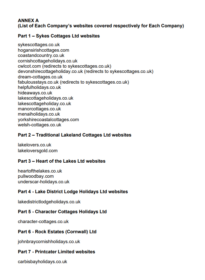 Sykes Cottages and its subsidiaries: If your cottage holiday was with any of these firms they have all been made to agree to (a) give you a full refund or (b) if you have accepted a voucher already, swap it for cash. See  https:// bit.ly/2ZAE0Ax     So many firms breaking the law.<br>http://pic.twitter.com/yPqjLcqnAA